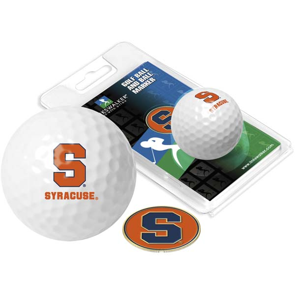 Syracuse Golf Ball One Pack with Marker