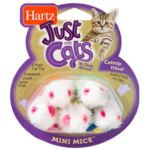 Wacky Cats 5 Pack Mini Mice Cat Toy