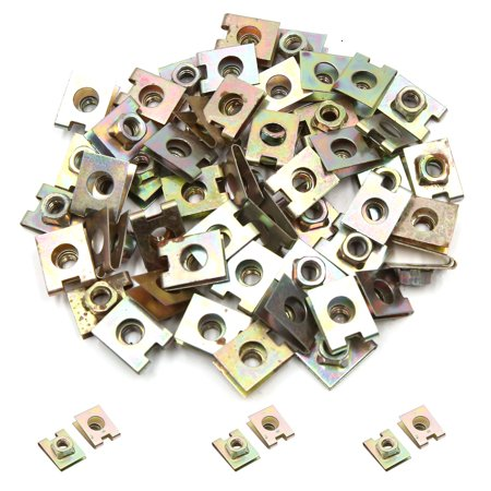 50Pcs 6mm Hole Spring Metal Plate U-Type Clips Speed Nuts for Car Panel Fender - image 1 de 2