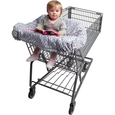 Boppy Shopping Cart Cover - Park Gate Gray Pink