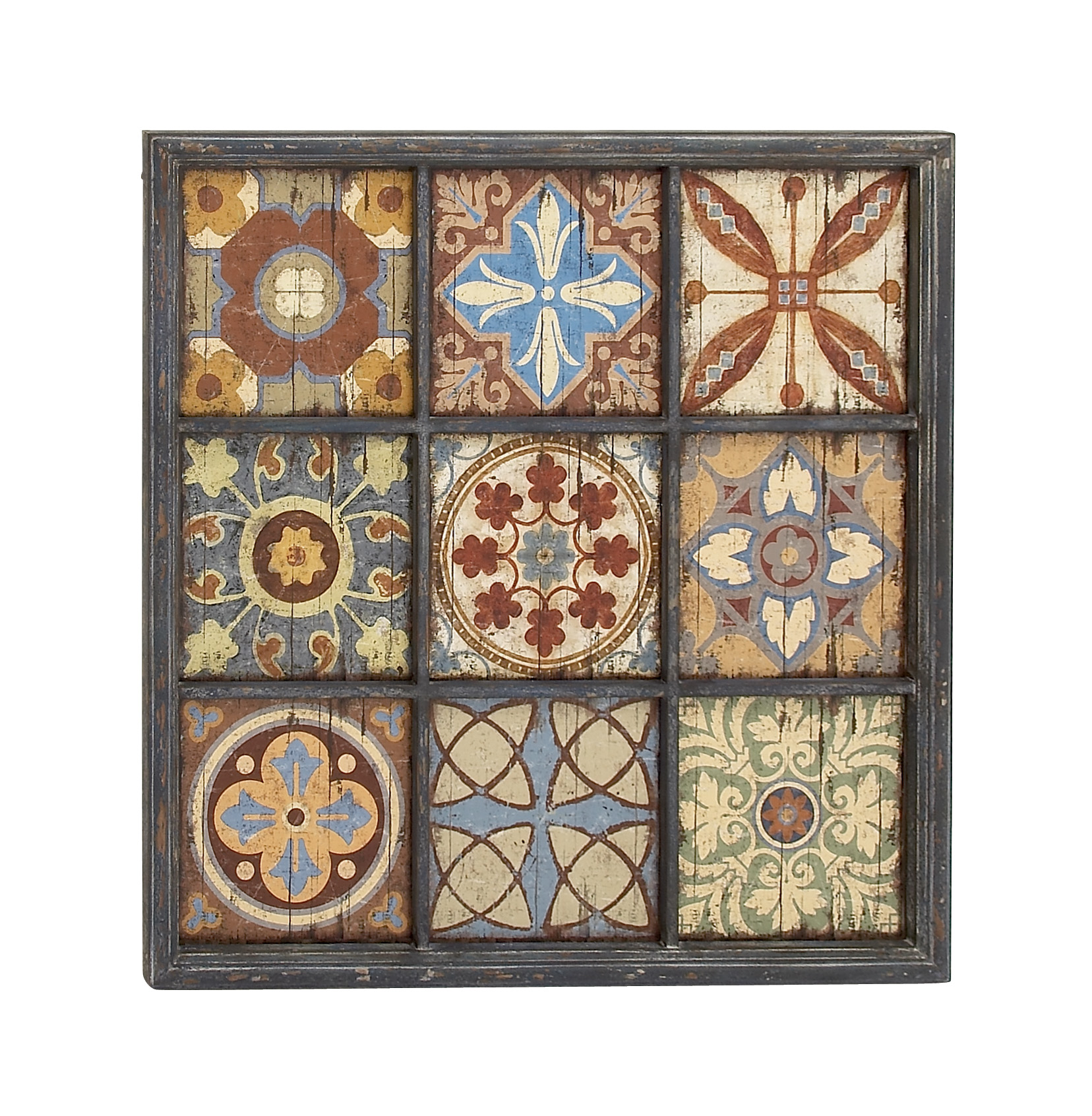Elegant And Vibrant Wood Wall Plaque by Benzara