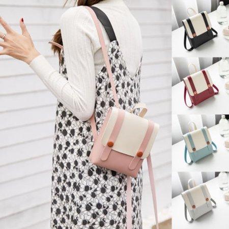 Fashion Women Leather Backpack Handbag Girls Shoulder Bag Travel Rucksack Tote