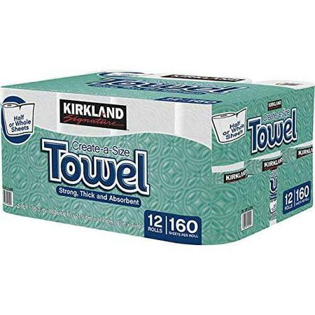 Kirkland Signature Premium Big Roll Paper Towels 12-roll, 160 Sheets Per Roll 1 Pack of 12