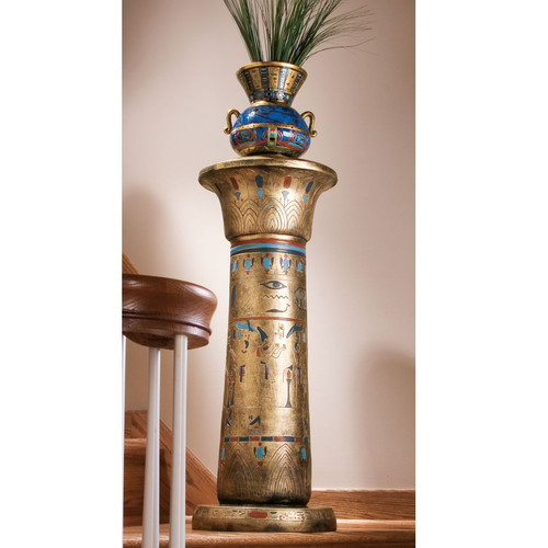 Design Toscano Egyptian Kings Pedestal Plant Stand by Design Toscano