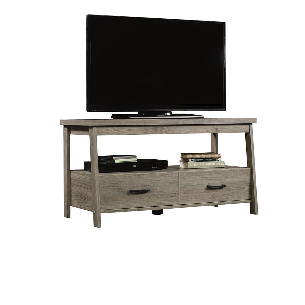 """Mainstays Logan TV Stand for TVs up to 47"""", Rustic Oak Finish"""