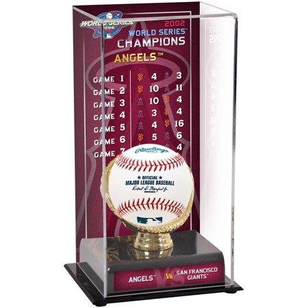 Anaheim Angels 2002 World Series Champions Sublimated Display Case with Series Listing Image