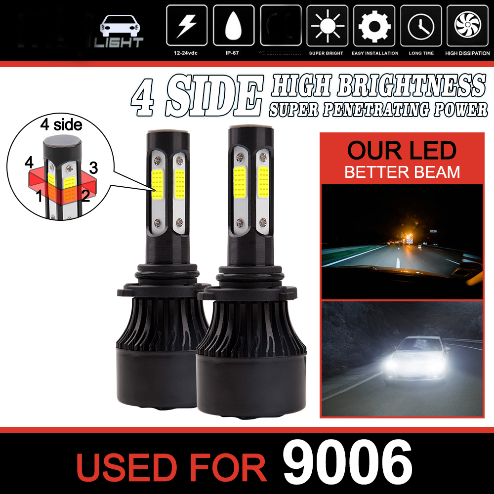 Fog Lights Elite Vision Advanced Automotive Accessories Low Beams High Beams Elite LED Conversion Kit H7 for Bright White Headlights Bulbs