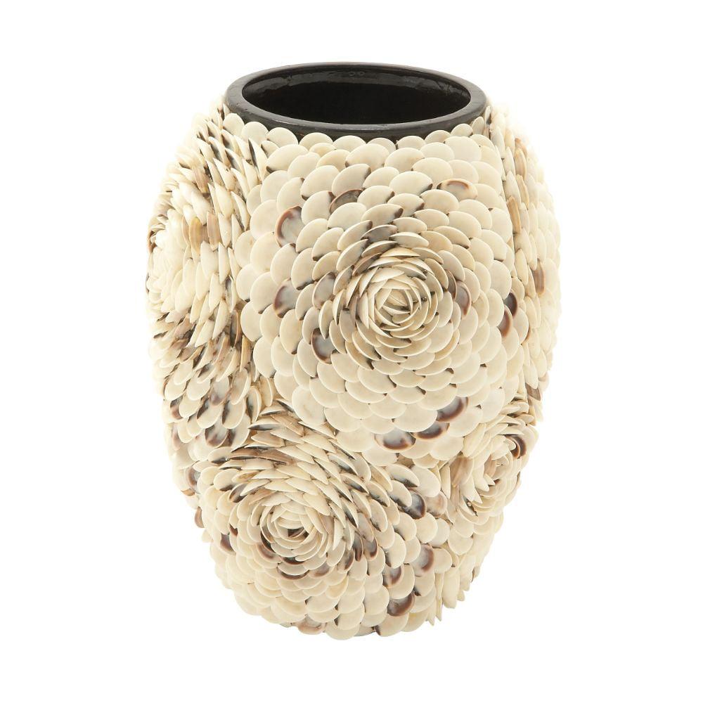 41156 Splendid Ceramic Shell Vase