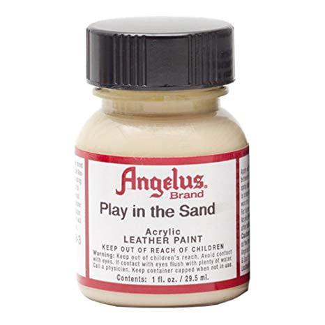 Angelus Shoe Polish - Acrylic Leather Paint - 1 oz. Bottle - Play Sand
