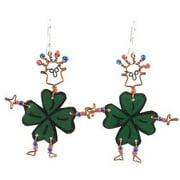 Creative Alternatives Dancing Girl Luck of the Irish Earrings