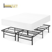 Best Price Mattress 12 Inch Memory Foam Mattress and Innovated Platform Metal Bed Frame Set