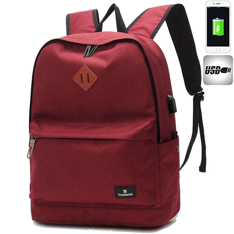 Men Women USB Port Oxford Backpack School Casual Travel Laptop Bag Rucksack by