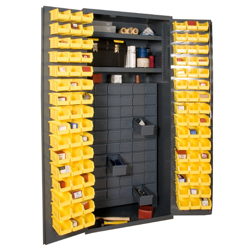 Durham Manufacturing 72'' H x 36'' W x 24'' D Small Parts Storage and Security Cabinet