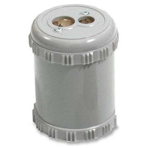 """Baumgartens Dual Pencil Sharpener with Receptacle - 2 Hole(s) - 2.4"""" Height - Plastic - Assorted"""