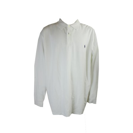 Polo Ralph Lauren Big Tall White Long Sleeve Mesh Polo