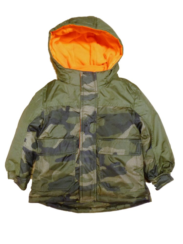 Healthtex Infant Toddler Boy Green Camouflage 3-In-1 Coat Camo Puffer Jacket