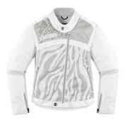 Icon Hella 2 Womens Textile Jacket White/Zebra