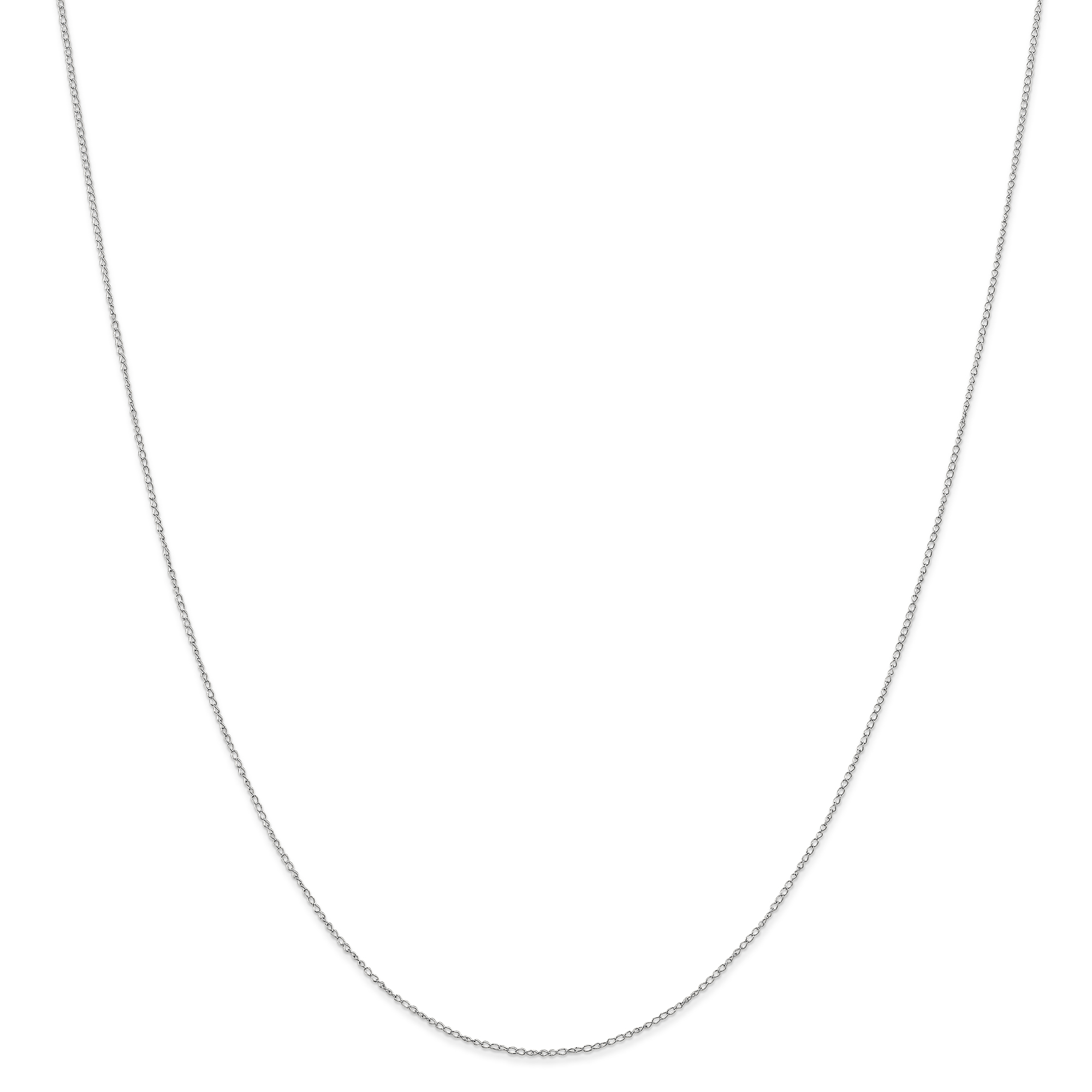 10k White Gold .42 Mm Carded Link Curb Necklace Chain Pendant Charm Fine Jewelry Gifts For Women For Her - image 6 of 6