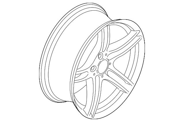 Genuine Oe Bmw Wheel Alloy 36 11 7 844 344