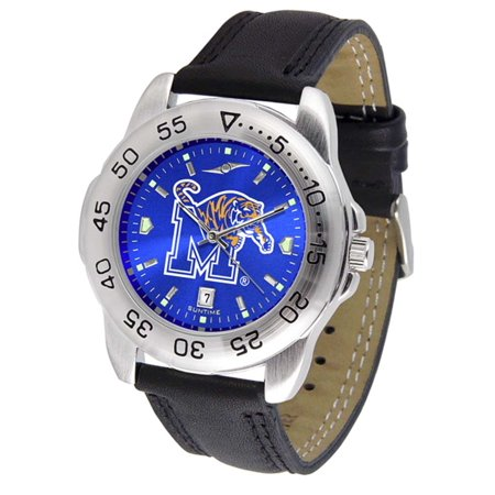 Memphis Tigers Sport AnoChrome Men's Watch with Leather Band
