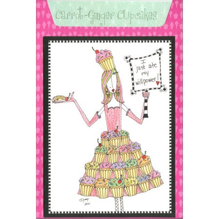 Pictura Carrot Ginger Cupcakes Dolly Mama Funny / Humorous Recipe Birthday Card