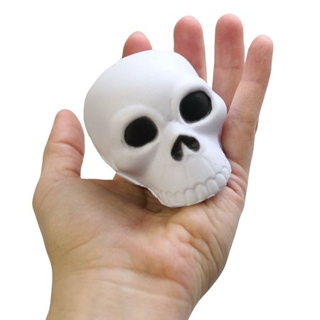 BULK 12 Skull Stress Ball Toys - Doctor, Nurse, Med Students, Radiologist Halloween - Doctor And Nurse Halloween