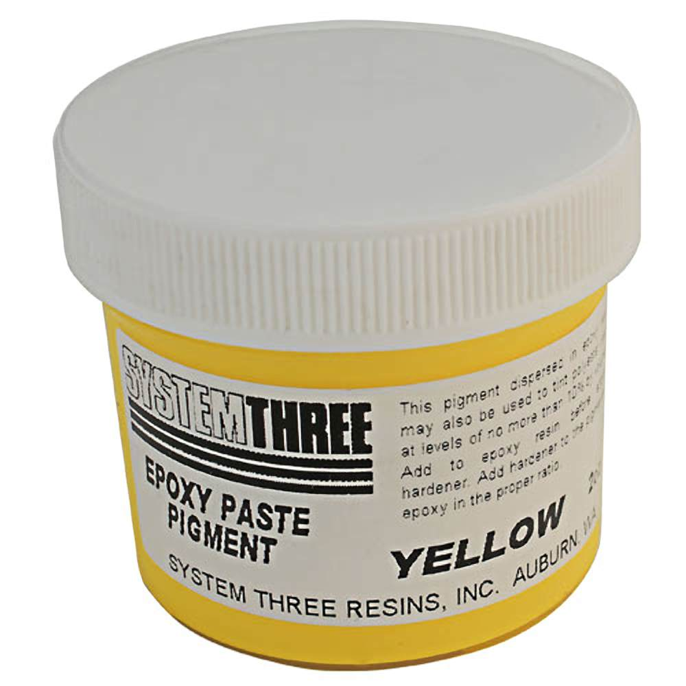 System Three 3204A04 Yellow Paste Pigment Coating, 2 Oz. Bottle