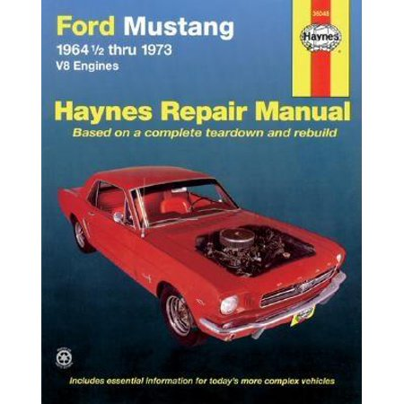 1964 Ford Owners Manual - Ford Mustang I, 1964 1/2-1973 : V8 Engines