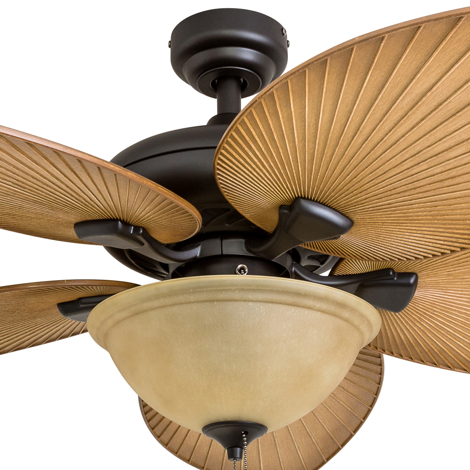 Honeywell Palm Valley 52 Bronze Tropical Led Ceiling Fan With Light Palm Leaf Blades Walmart Com Walmart Com