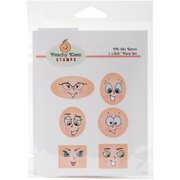 Peachy Keen Stamps Clear Face Assortment 6/pkg-retro