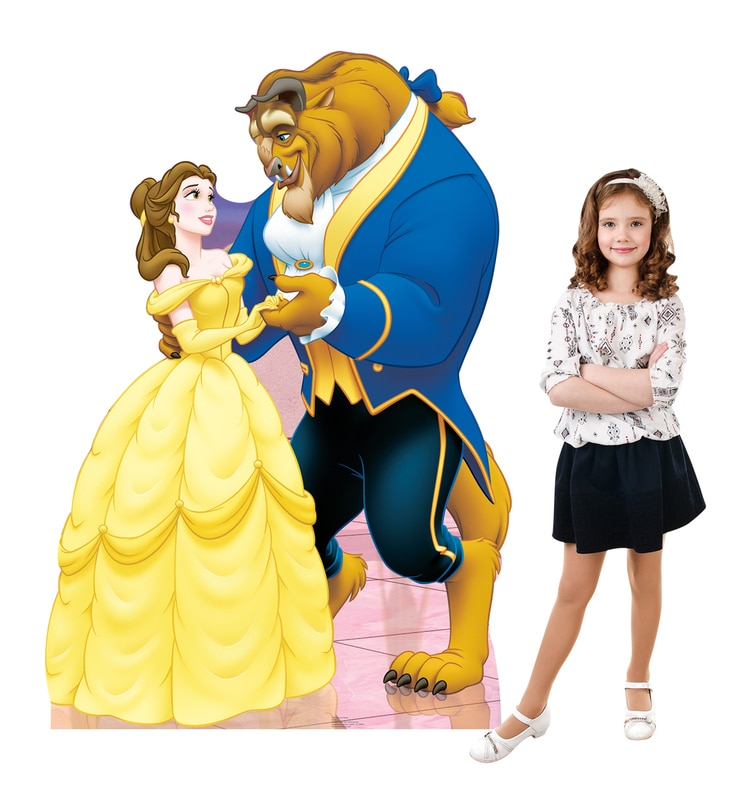 Belle and Beast (Beauty and the Beast) Cardboard Stand-Up, 5ft