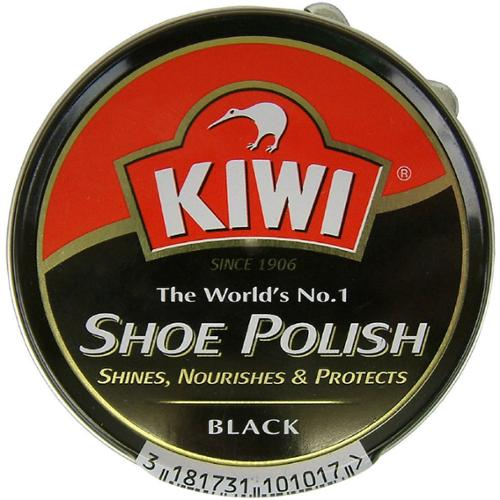 KIWI Shoe Polish, Black 2.50 oz (Pack of 2)