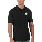 Pittsburgh Steelers Antigua Legacy Pique Polo - Black