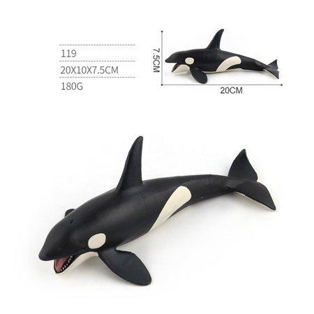 Whale Calf Animal Figure (Simulate Whale Animal Modeling Educational Toy for Kids Rome Decoration 119 killer whale)