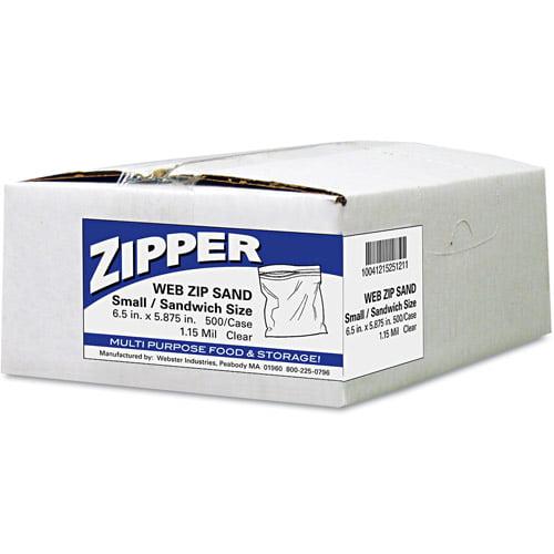 Handi-Bag Pinch & Seal Zipper Sandwich Bags, 500 Ct