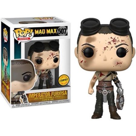 Mad Max Fury Road Funko POP! Movies Imperator Furiosa Vinyl Figure [Bloody Face, Chase Version] ()