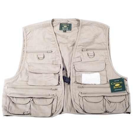 Crystal river tan fly fishing utility vest size xl for Toddler fishing vest