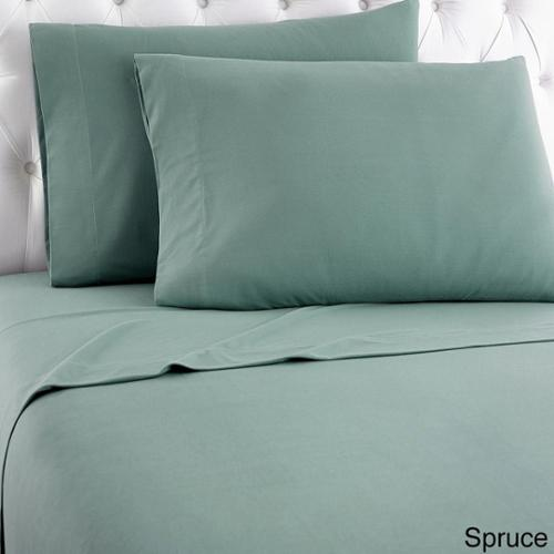 Micro Flannel Solid Sheet Sets King - Spruce