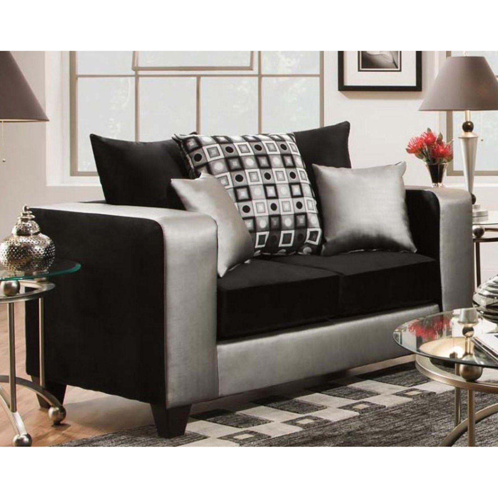 Chelsea Home Furniture Micha Two-Toned Loveseat