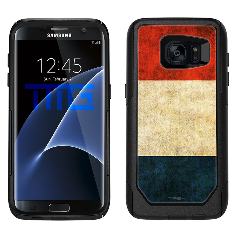 Skin Decal for OtterBox Commuter Samsung Galaxy S7 Edge Case Vintage Dutch Flag by Trek Media Group
