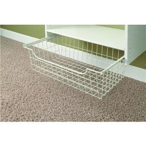 "Easy Track 1308 8"" White Easy Track Wire Basket"