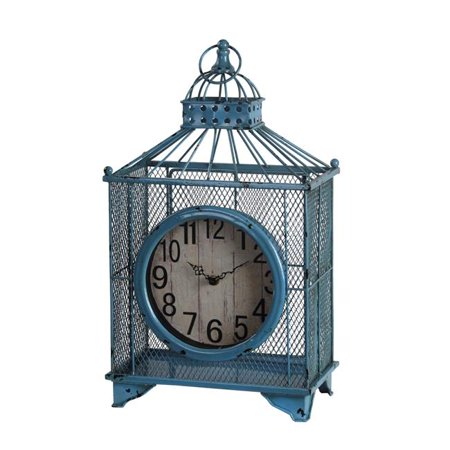 Privilege 88444 11 5 x 6 5 x 19 5 in  Iron Table Clock