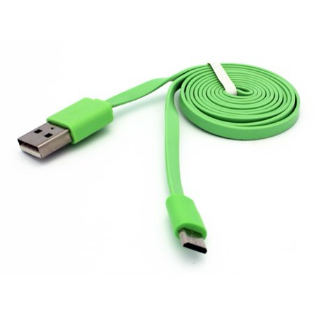 824 Three Light (Green 3ft Flat Micro USB Cable Compatible With Doro Doro 824 SmartEasy - GreatCall Jitterbug Smart2 - HTC Google Nexus 9, Desire 626s 555 530 - Huawei Vision 3 LTE, MediaPad X1 T1 10 M1 G5Q)