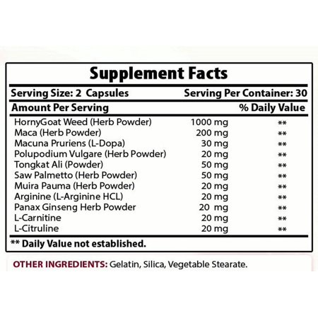Best Naturals Horny Goat Weed with maca 60 Capsules