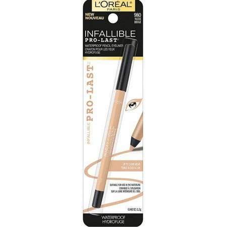 2 Pack - L'Oreal Infallible Pro-Last Waterproof Pencil Eyeliner, Nude 0.042 oz - Semi Pro Eyeliner