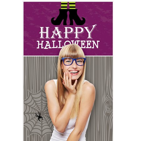 Happy Halloween - Witch Party Photo Booth Backdrops - 36