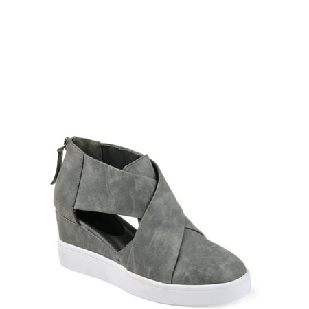 Womens Athleisure D'orsays Criss-cross Sneaker Wedges