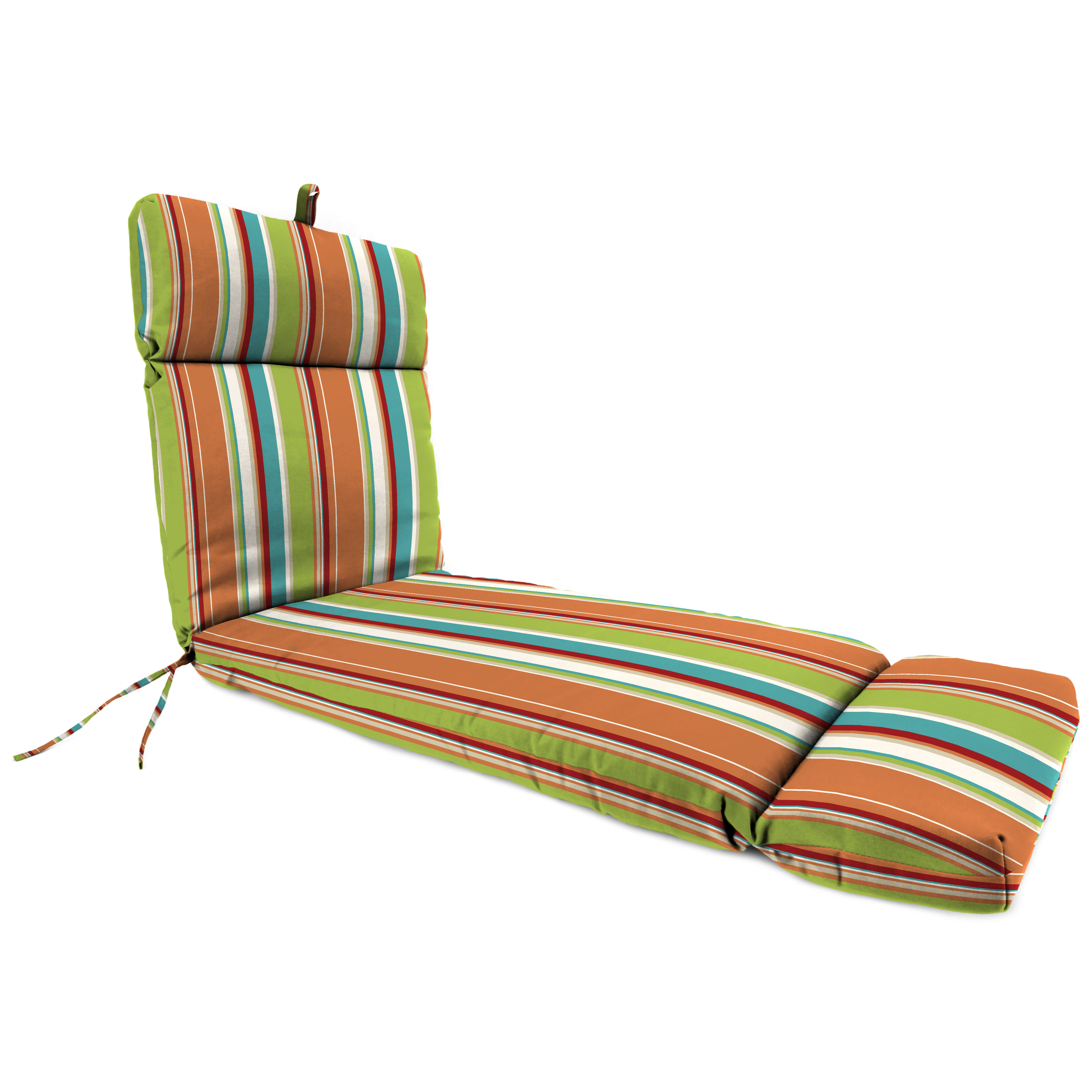 Jordan Manufacturing Outdoor French Edge Chaise Lounge Cushion, Covert Breeze