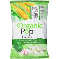 Saratoga Organic Pop All Natural Roasted Garlic and Kale Air Popped Popcorn, 4 Oz.