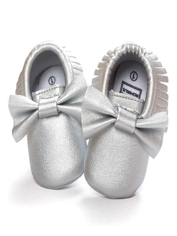 Baby Crib Tassels Bowknot Shoes Toddler Sneakers Casual Non-slip Shoes